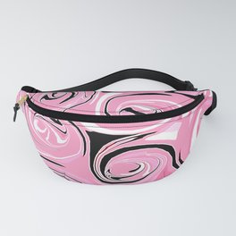 Strawberry Pink Icing Swirls Fanny Pack