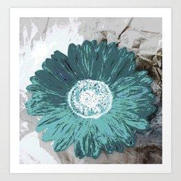 Blue flower head Art Print