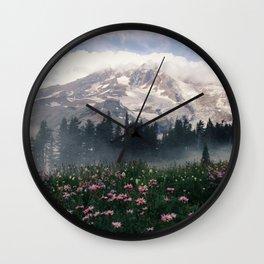Mt Rainier Wall Clock