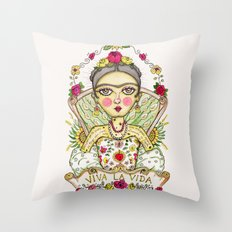 Frida Kahlo Viva la Vida Throw Pillow