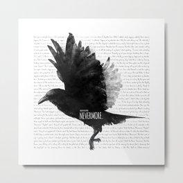 The Raven - E.A. Poe Metal Print