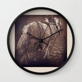 Percheron Horse Wall Clock