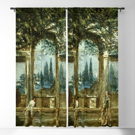 """Diego Velázquez """"View of the Garden of the Villa Medici in Rome (The Sleeping Ariadne)"""" Blackout Curtain"""