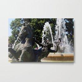 JC Nichols Fountain Metal Print