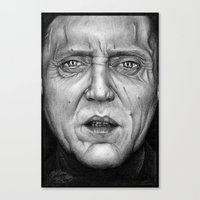 christopher walken Canvas Prints featuring Christopher Walken by ColleenTrillow
