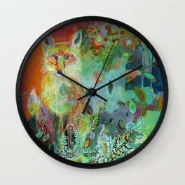 i am the forest path Wall Clock