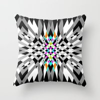 chic Throw Pillows featuring Chic by Ornaart