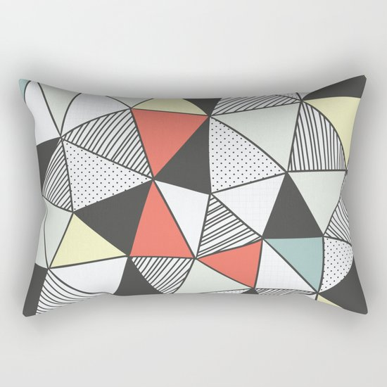 Triangular pattern Rectangular Pillow