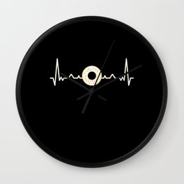 Donut Heartbeat Foodie Doughnut Gift Wall Clock