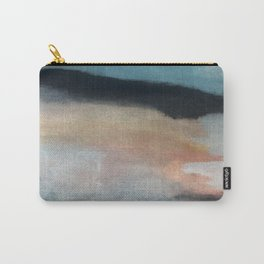 Dawn: a minimal abstract acrylic piece in pink, blues, yellow, and white Carry-All Pouch