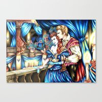 dragon age inquisition Canvas Prints featuring Dragon Age Inquisition: Masquerade by Auburn Rogue