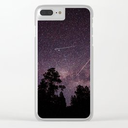 Busy Sky - Shooting Stars, Planes and Satellites in Colorado Night Sky Clear iPhone Case