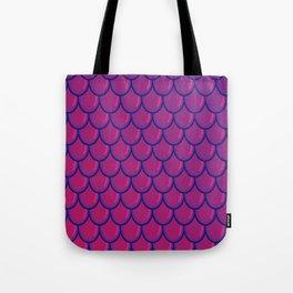Dragon Scale purple Tote Bag