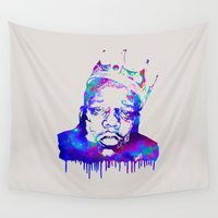biggie Wall Tapestries featuring Notorious by Fimbis