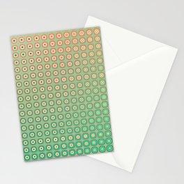 Shiny buttons retro pattern Stationery Cards