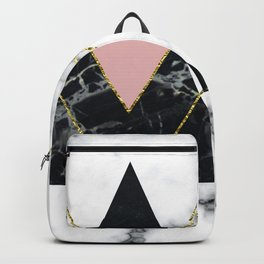 Geo glam marble Backpack