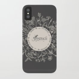 Dear Sassenach in Grey iPhone Case