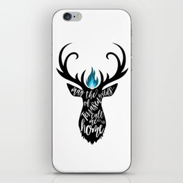 May the wilds of Terrasen call me home iPhone Skin
