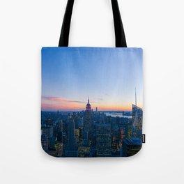 New York Cityscape VIew (Color) Tote Bag