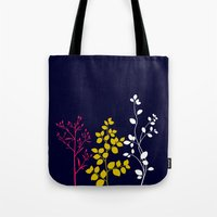 plain Tote Bags featuring Bloom- plain by Jordan Virden
