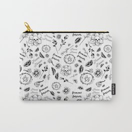 Femme Forever - Cute Floral Occult Picture Carry-All Pouch