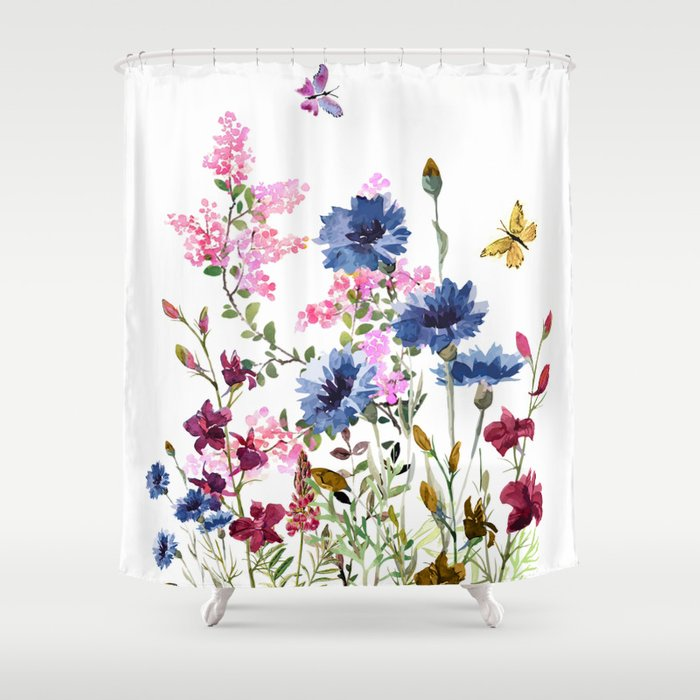 Wildflowers IV Duschvorhang