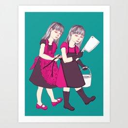 Up To No Good (Color) Art Print