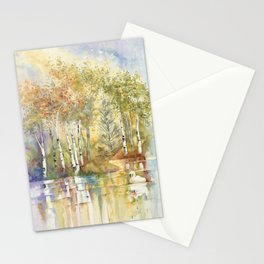 Lazy Day on Swan Lake Stationery Cards