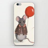 ballon iPhone & iPod Skins featuring la souris au ballon by Delphine Doreau