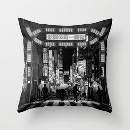 Tokyo Nights / Kabukichō / Liam Wong Throw Pillow