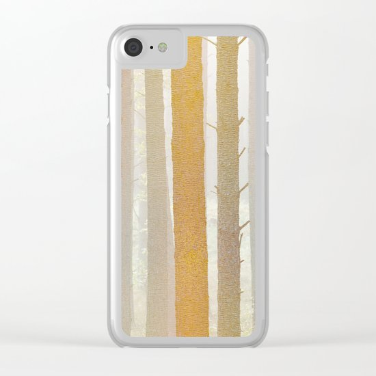 Golden Winter Forest 2 Clear iPhone Case