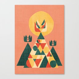 Sunset Tipi Canvas Print