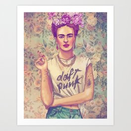 Frida Punk! Art Print