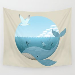 Whale & Seagull (US and THEM) Wall Tapestry