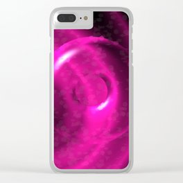 Magenta Pink Strangeness Clear iPhone Case