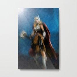 Thor, the Goddess of Thunder Metal Print