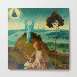 "Hieronymus Bosch ""St. John the Evangelist on Patmos"" Metal Print"