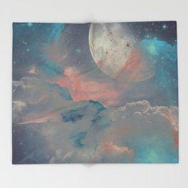 Gashes in the sky Throw Blanket