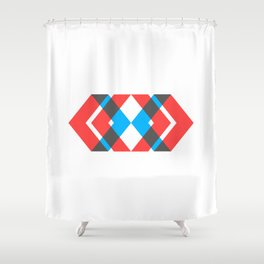 A Picture With Some Chevrons Shower Curtain