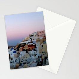 Dawn of Santorini Greece Stationery Cards