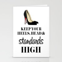 heels Stationery Cards featuring Heels & Standards by LuxuryLivingNYC