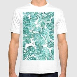 Monstera pattern T-shirt