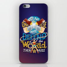 Defend your world v2 iPhone & iPod Skin