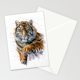 Watercolor Tiger Stationery Cards