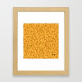 Feathered Flocks - Tangerine Framed Art Print