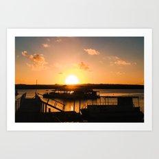 Sun is Going Down Art Print