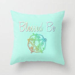 Blessed be with pentacle Throw Pillow
