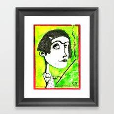 SMOKER ONE Framed Art Print