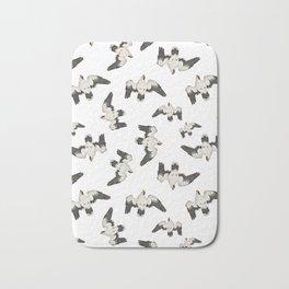 Birds Pattern Photo Collage Bath Mat
