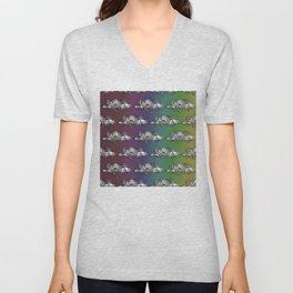 Fractal Lace Clouds Unisex V-Neck